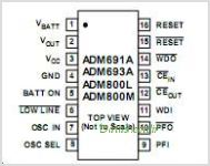 ADM691A pinout,Pin out