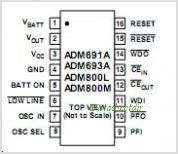 ADM693A pinout,Pin out