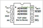 ADM694 pinout,Pin out