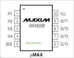 MAX6338MUB-T pinout,Pin out