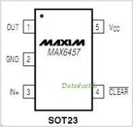 MAX6457UKD0BT pinout,Pin out