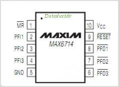 MAX6714 pinout,Pin out