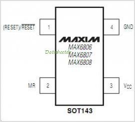 MAX6807 pinout,Pin out