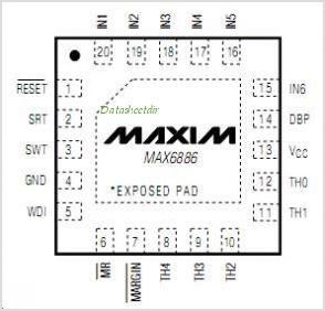 MAX6886 pinout,Pin out