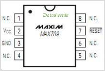 MAX709S pinout,Pin out