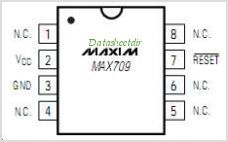 MAX709T pinout,Pin out