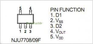 NJU7708F15 pinout,Pin out