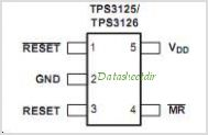TPS3126E12 pinout,Pin out