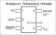 TPS3805H33-EP pinout,Pin out
