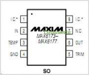 MAX6173 pinout,Pin out