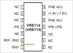 VRE114 pinout,Pin out