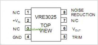 VRE3025 pinout,Pin out