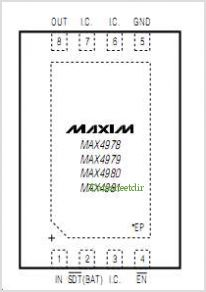 MAX4978 pinout,Pin out