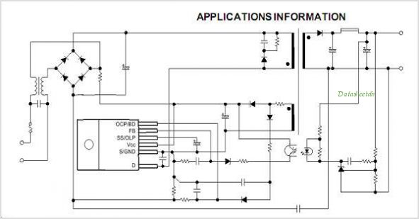 STR-W6753 datasheet, Pinout ,application circuits Universal