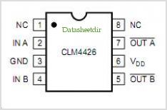 CLM4426EY pinout,Pin out