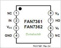 FAN7361 pinout,Pin out