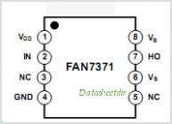 FAN7371 pinout,Pin out