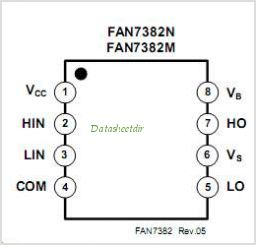 FAN7382 pinout,Pin out