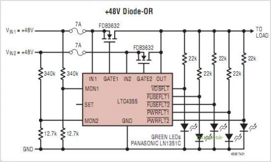 LTC4355IS-PBF circuits