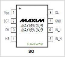 MAX15013 pinout,Pin out