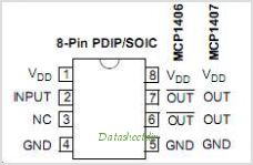 MCP1407 pinout,Pin out
