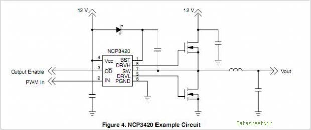 NCP3420 circuits