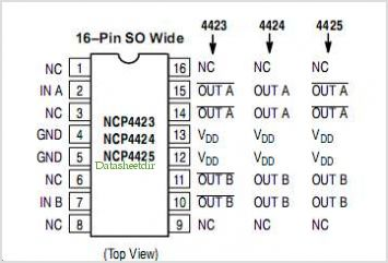 NCP4423 pinout,Pin out
