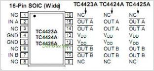 TC4425 pinout,Pin out
