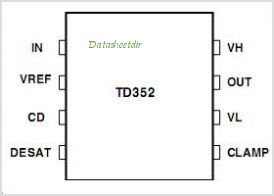 TD352 pinout,Pin out