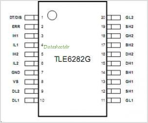 TLE6282 pinout,Pin out