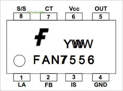 FAN7556 pinout,Pin out