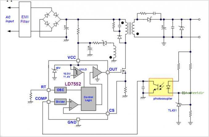 LD7552IS circuits