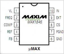 MAX1846 pinout,Pin out