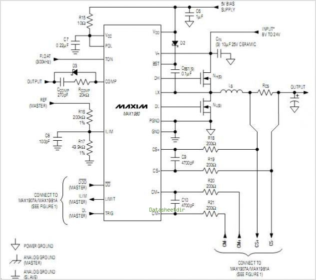 MAX1907A circuits