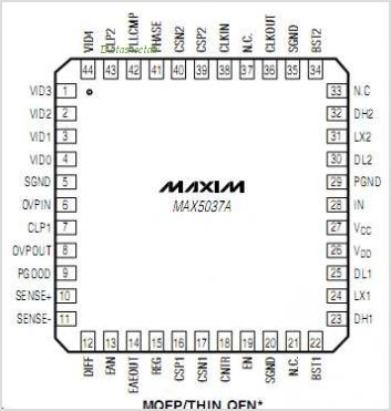 MAX5037A pinout,Pin out