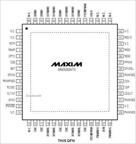 MAX5043 pinout,Pin out