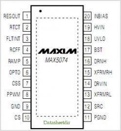 MAX5074 pinout,Pin out