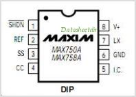 MAX758AEWE-T pinout,Pin out
