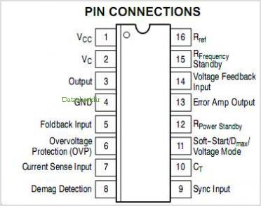 MC44603A pinout,Pin out