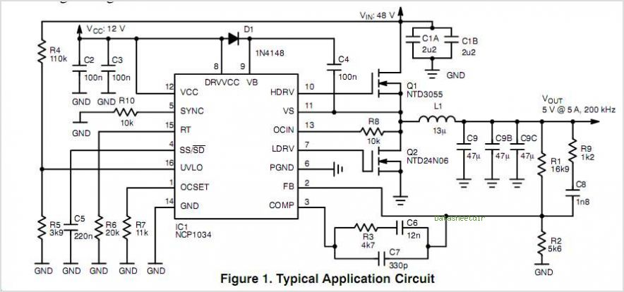NCP1034 circuits