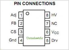 NCP1216 pinout,Pin out