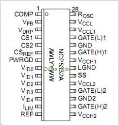 NCP5332A pinout,Pin out
