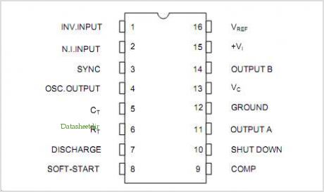U3525 pinout,Pin out