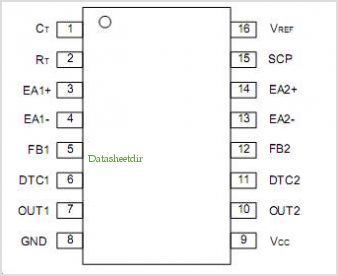 U9751B pinout,Pin out