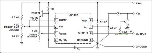 UC2843 datasheet, Pinout ,application circuits Current-Mode
