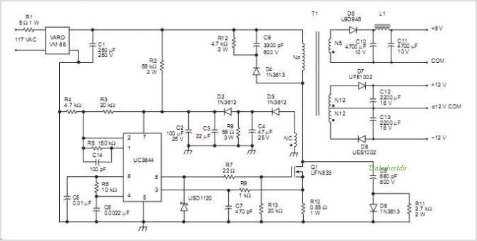 UC2845DG4 datasheet, Pinout ,application circuits Current