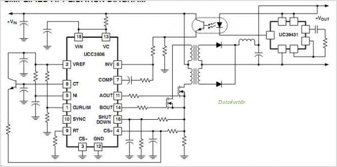 UCC3806 Dual current-mode PWM controller