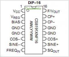 CS8191 pinout,Pin out