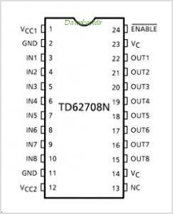 TD62708N pinout,Pin out