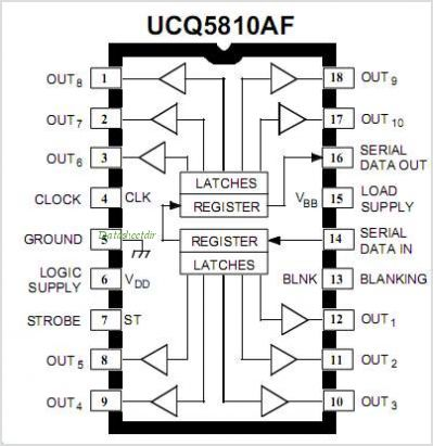 UCQ5810 pinout,Pin out